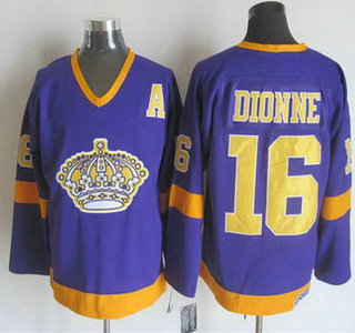 Men's Los Angeles Kings #16 Marcel Dionne 1977-79 Purple CCM Vintage Throwback Jersey