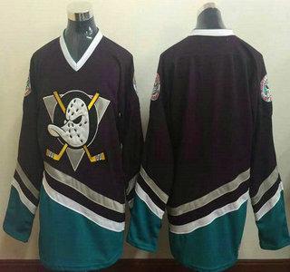 Men's Mighty Ducks of Anaheim Blank 1995-96 Purple CCM Vintage Throwback Jersey