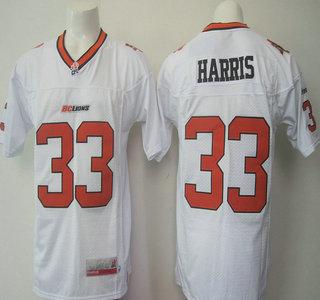 CFL BC Lions #33 Andrew Harris Orange Jersey