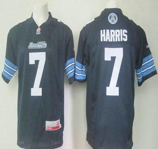 CFL Toronto Argonauts #7 Trevor Harris Navy Blue Jersey