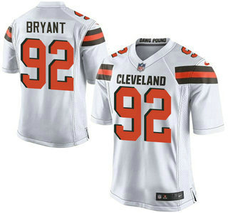 ID104721 Men\'s Cleveland Browns Brown #92 Desmond Bryant White Road 2015 NFL Nike Elite Jersey