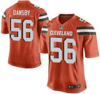 ID104709 Men\'s Cleveland Browns Brown #56 Karlos Dansby Orange Alternate 2015 NFL Nike Elite Jersey