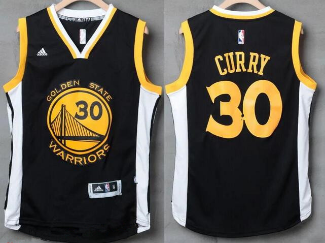 70c761cf9 ... Swingman Mens Golden State Warriors 30 Stephen Curry Black With White  Edge Stitched NBA Adidas Revolution ...