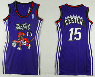 Women's Toronto Raptors #15 Vince Carter Purple Dress
