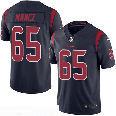 61683dda3 Men s Houston Texans  65 Greg Mancz Navy Blue 2016 Color Rush Stitched NFL  Nike Limited