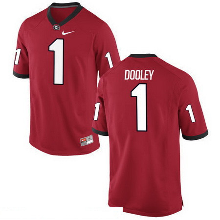 Men's Georgia Bulldogs #1 Vince Dooley Red Stitched College Football 2016 Nike NCAA Jersey