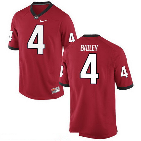 Men's Georgia Bulldogs #4 Champ Bailey Red Stitched College Football 2016 Nike NCAA Jersey