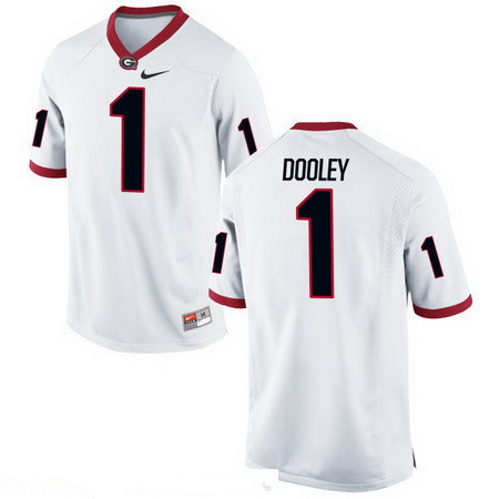 Men's Georgia Bulldogs #1 Vince Dooley White Stitched College Football 2016 Nike NCAA Jersey