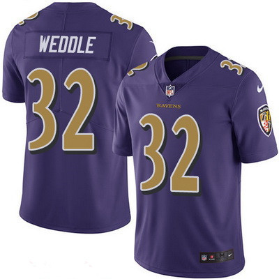 ID98081 Men\'s Baltimore Ravens #32 Eric Weddle Purple 2016 Color Rush Stitched NFL Nike Limited Jersey