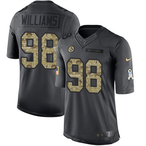 ID97756 Men\'s Pittsburgh Steelers #98 Vince Williams Black Anthracite 2016 Salute To Service Stitched NFL Nike Limited Jersey