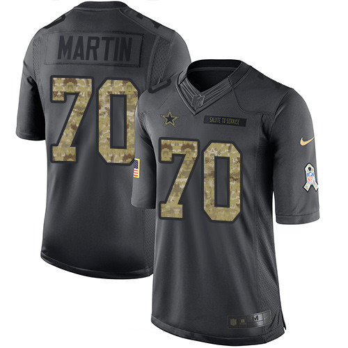 ID97490 Men\'s Dallas Cowboys #70 Zack Martin Black Anthracite 2016 Salute To Service Stitched NFL Nike Limited Jersey