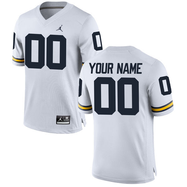a4ea24d6294 good navy replica football jersey mens michigan wolverines custom brand  jordan white stitched college football 2016