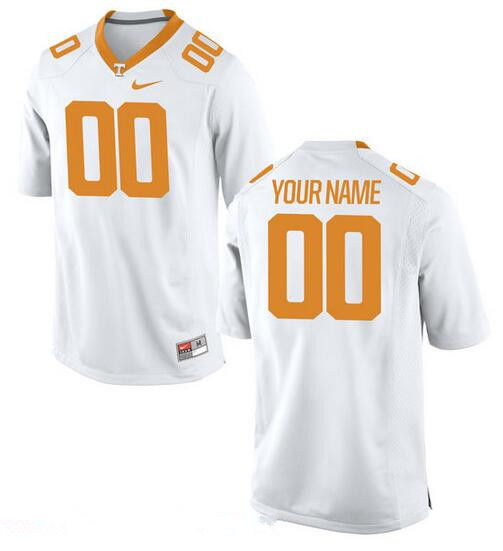 Men's Tennessee Volunteers Nike Custom Game Jersey - 2016 Tennessee White