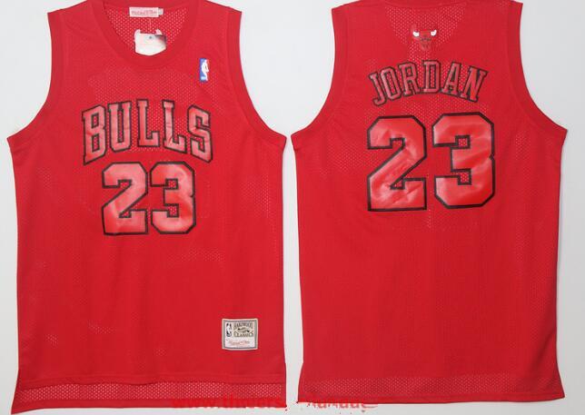 ... Mens Chicago Bulls 23 Michael Jordan All Red Hardwood Classics Soul  Swingman Throwback Jersey ... fbc299365