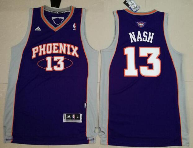 b0f5b2aedaf Mens Phoenix Suns 13 Steve Nash Purple Stitched NBA Adidas Revolution 30  Swingman Jersey ...