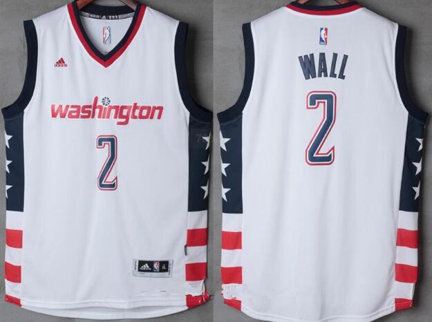 Men's Washington Wizards #2 John Wall White Stitched NBA 2016-17 Adidas Revolution 30 Swingman Jersey