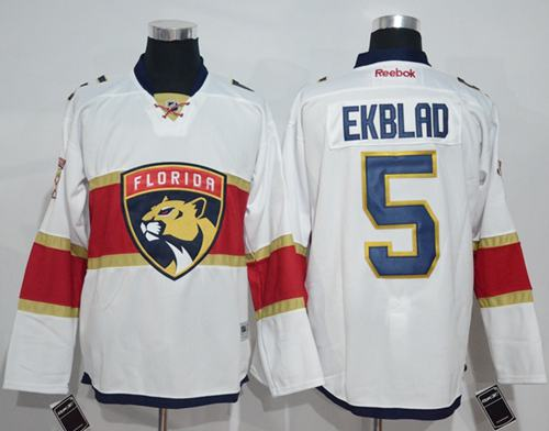 Panthers #5 Aaron Ekblad White Road Stitched NHL Jersey