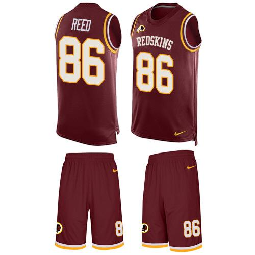 ID96995 Nike Redskins #86 Jordan Reed Burgundy Red Team Color Men\'s Stitched NFL Limited Tank Top Suit Jersey