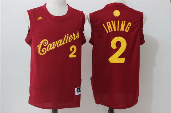 70e8051e6 ... Mens Cleveland Cavaliers 2 Kyrie Irving adidas Burgundy Red 2016  Christmas Day Stitched NBA Swingman Jersey ...