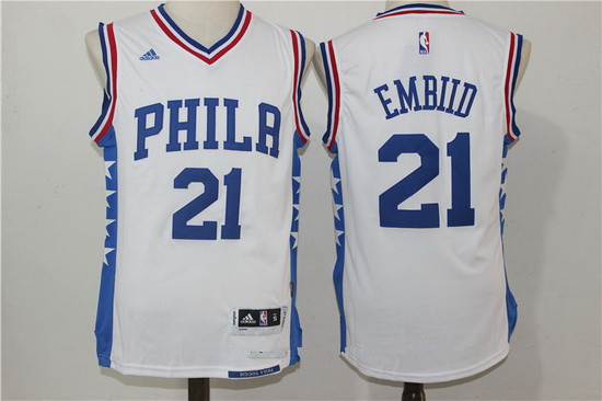 ... aliexpress mens philadelphia 76ers 21 joel embiid new white stitched  nba adidas revolution 30 swingman jersey 8ee5537ad