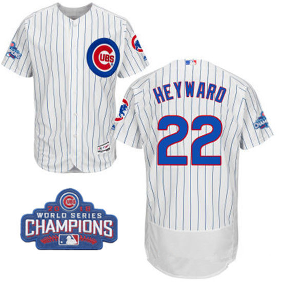 4367bd06c46 mens chicago cubs 22 jason heyward royal blue majestic flex base 2016 world  series champions patch jersey