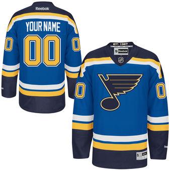 Mens St. Louis Blues Reebok Navy Blue Premier Home Custom Jersey