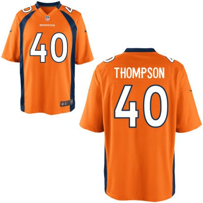 ID101995 Men\'s Denver Broncos #40 Juwan Thompson Orange Team Color NFL Nike Elite Jersey