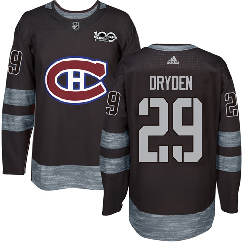 Canadiens #29 Ken Dryden Black 1917-2017 100th Anniversary Stitched NHL Jersey
