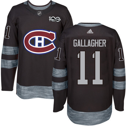 Canadiens #11 Brendan Gallagher Black 1917-2017 100th Anniversary Stitched NHL Jersey