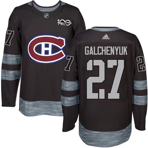 Canadiens #27 Alex Galchenyuk Black 1917-2017 100th Anniversary Stitched NHL Jersey