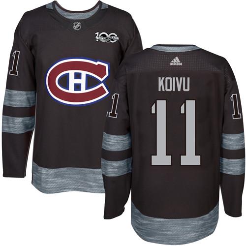 Canadiens #11 Saku Koivu Black 1917-2017 100th Anniversary Stitched NHL Jersey