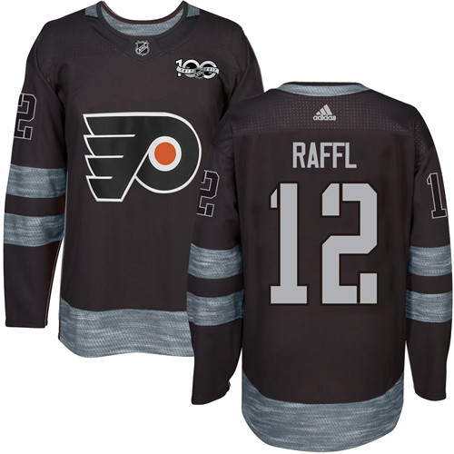 Flyers #12 Michael Raffl Black 1917-2017 100th Anniversary Stitched NHL Jersey