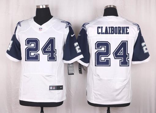 ID101950 Men\'s Dallas Cowboys #24 Morris Claiborne Nike White Color Rush 2015 NFL Elite Jersey