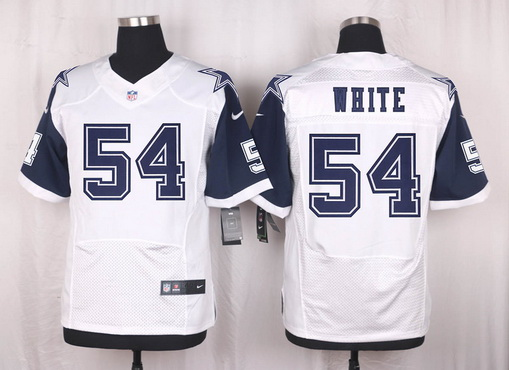 ce91f05c4 Men s Dallas Cowboys  54 Randy White Nike White Color Rush 2015 NFL Elite  Jersey