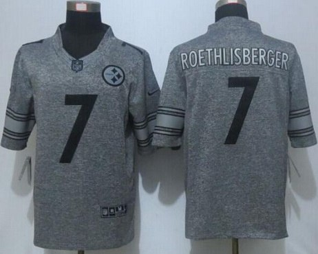 ... Mens Pittsburgh Steelers 7 Ben Roethlisberger Nike Gray Gridiron 2015 NFL  Gray Limited Jersey ... cacb5023e