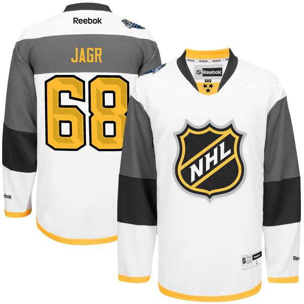 Men's NHL #68 Jaromir Jagr Reebok White 2016 All-Star Premier Jersey