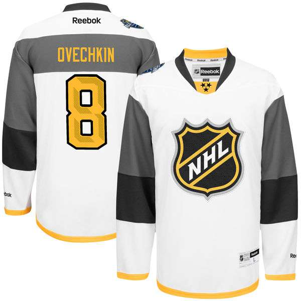 Men's NHL Reebok #8 Alexander Ovechkin White 2016 All-Star Premier Jersey