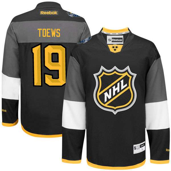 Men's NHL #19 Jonathan Toews Black Reebok 2016 All-Star Premier Jersey