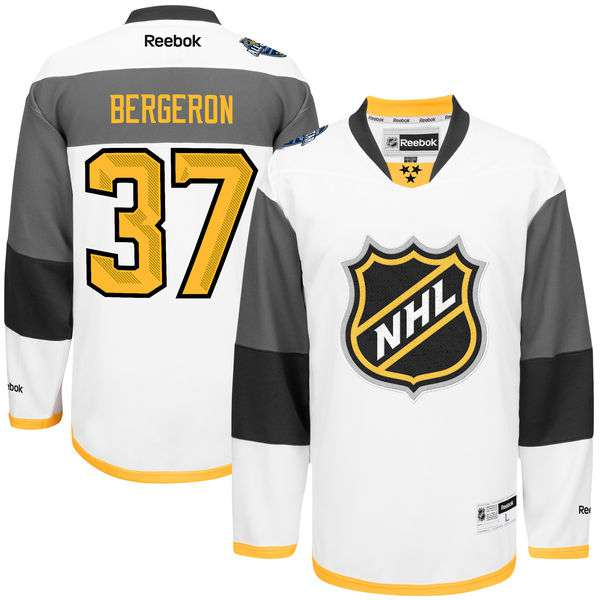 Men's NHL #37 Patrice Bergeron Reebok 2016 All-Star Premier Jersey - White