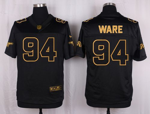 ID178097 Nike Broncos #94 DeMarcus Ware Black Men\'s Stitched NFL Elite Pro Line Gold Collection Jersey