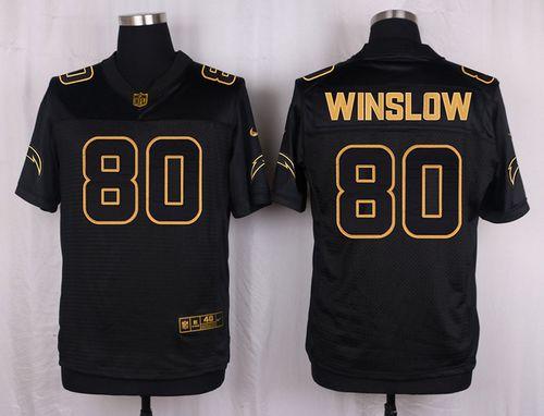 ID101866 Nike Chargers #80 Kellen Winslow Black Men\'s Stitched NFL Elite Pro Line Gold Collection Jersey