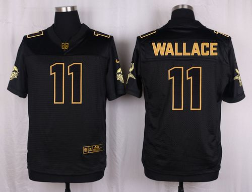 ... Blair Walsh Minnesota Vikings Home 3 Nike Nike Vikings 11 Mike Wallace  Black Mens Stitched NFL Elite Pro Line Gold Collection Jersey ... 6d28052cd