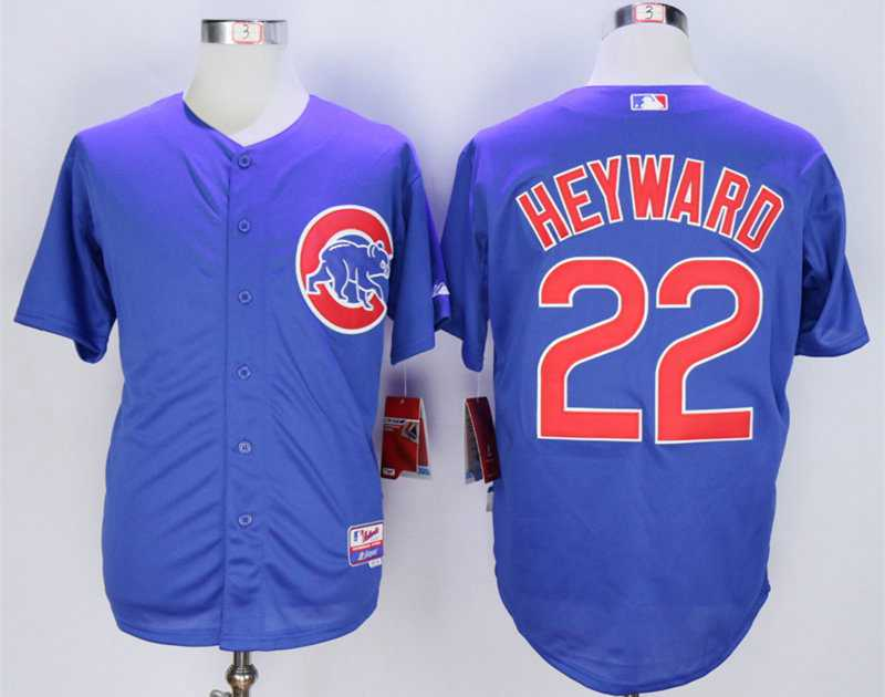 5f091a508 ... sweden mlb cool base jersey mens chicago cubs 22 jason heyward blue  cool base jersey fe597
