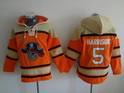 Men's Pittsburgh Pirates #5 Josh Harrison Orange MLB Baseball Hoodie