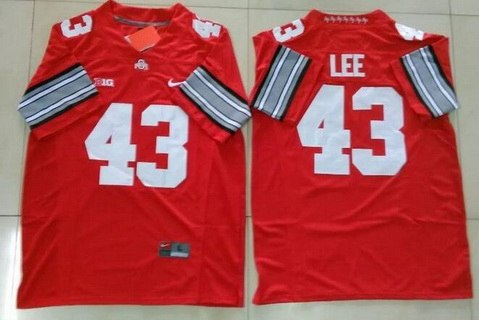 Men's Ohio State Buckeyes #43 Darrin Lee Red College Football Nike Limited Jersey