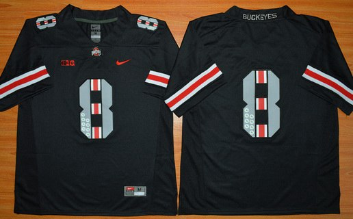 Men's Ohio State Buckeyes 8th Championship Commemorative Black College Football Jersey