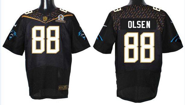 Wholesale NFL Nike Jerseys - Men's Carolina Panthers #24 Josh Norman Black 2016 Pro Bowl Nike ...