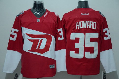 38208d940 ... Detroit Red Wings 35 Jimmy Howard Reebok Red 2016 Stadium Series Team  Premier Jersey 8 Premier Justin Abdelkader ...