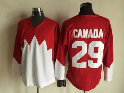 Men's Team Canada #29 Canada 1972 CCM Throwback Hockey Red Jersey