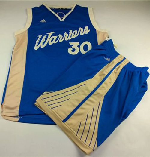 Warriors #30 Stephen Curry Blue 2015-2016 Christmas Day A Set ...